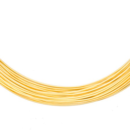 Aluminum Beading Wire, Anodized Gold 20Gauge 48-foot coil jewelry wire