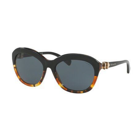 f293c52e62ccc Coach - Coach 0HC8184 Sun Full Rim Cat Eye Womens Sunglasses - Size 57 (Black  Tortoise   Dark Grey Solid) - Walmart.com