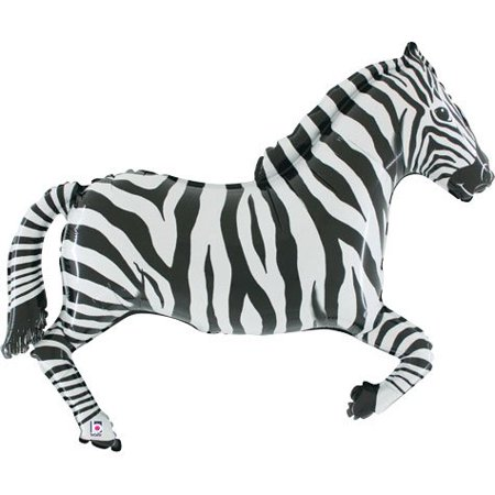 Oaktree 43 Inch Shaped Zebra Packaged, Zebra shaped balloon By Betallic (Custom Shaped Balloons)