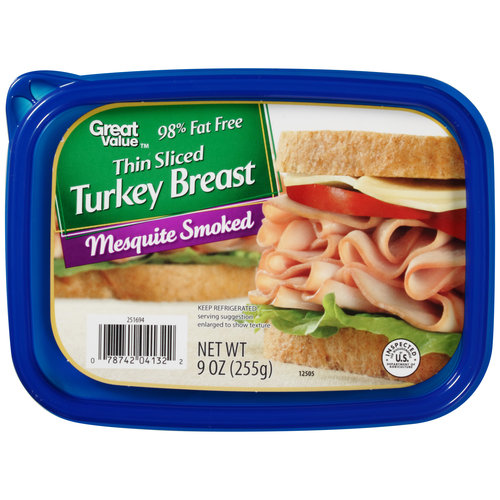 Great Value Thin Sliced Mesquite Smoked Turkey Breast, 9 oz