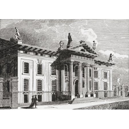 The Clarendon Building Oxford England In The 19Th Century Built In The Early 18Th Century To House The Oxford University Press From The Strand Magazine Published 1894 Stretched Canvas - Ken Welsh  De