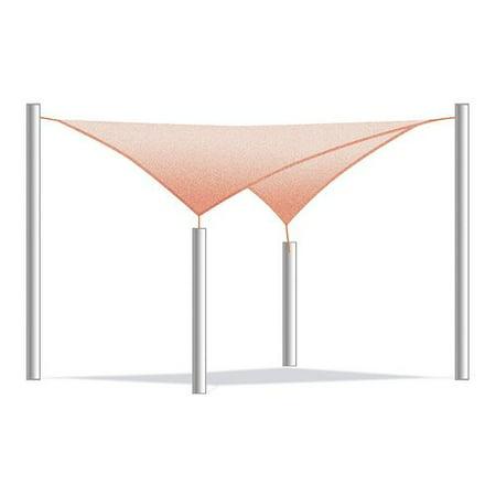 ALEKO Sun Shade Sail - Square - 10 x 10 Feet - Terra