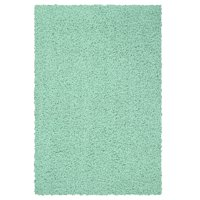 Mainstays Machine Washable Solid Shag Area Rug, Mint, 3'x4'8""