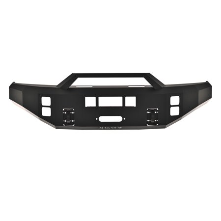 - ICI (Innovative Creations) FBM12FDN-RT Magnum Front Bumper; Double 3.5 in. Square; Incl. RT Series Light Bar; Optional Skid Plate Sold Separately;