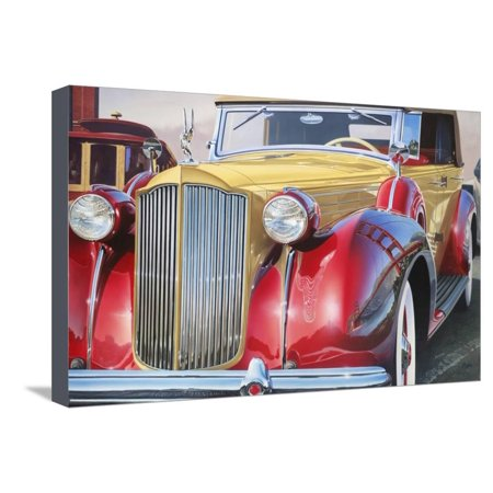 '38 Packard Phaeton Body Stretched Canvas Print Wall Art By Graham