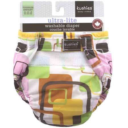 Kushies Ultra-Lite Diaper Toddler Pink Groovey Squares - image 1 of 2