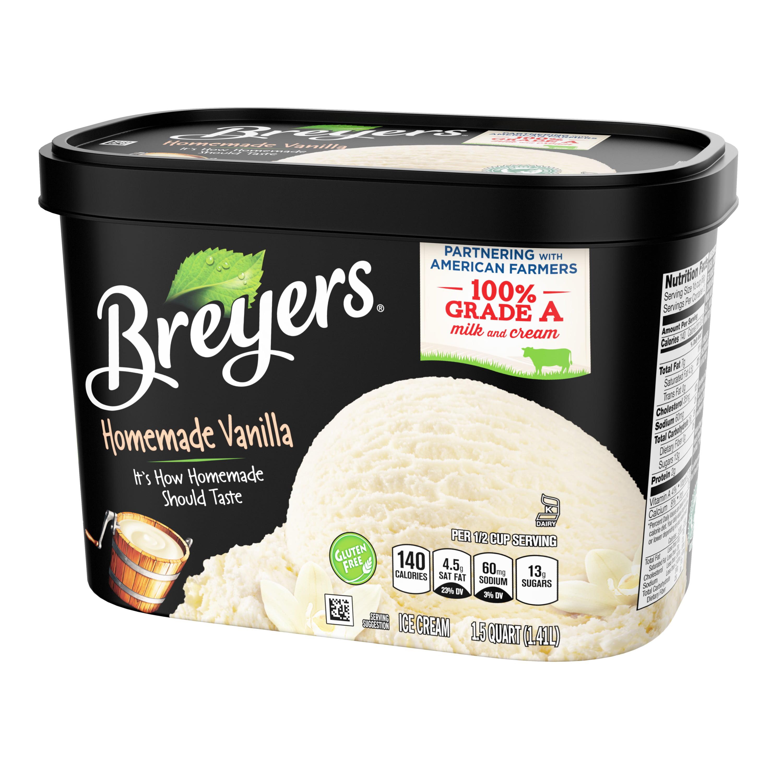 Amazing Breyers Original Ice Cream Homemade Vanilla 48 Oz Walmart Com Funny Birthday Cards Online Alyptdamsfinfo