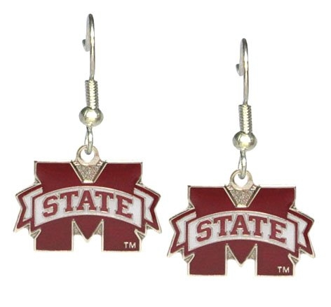 Mississippi State Bulldogs - NCAA Team Logo Dangler Earrings