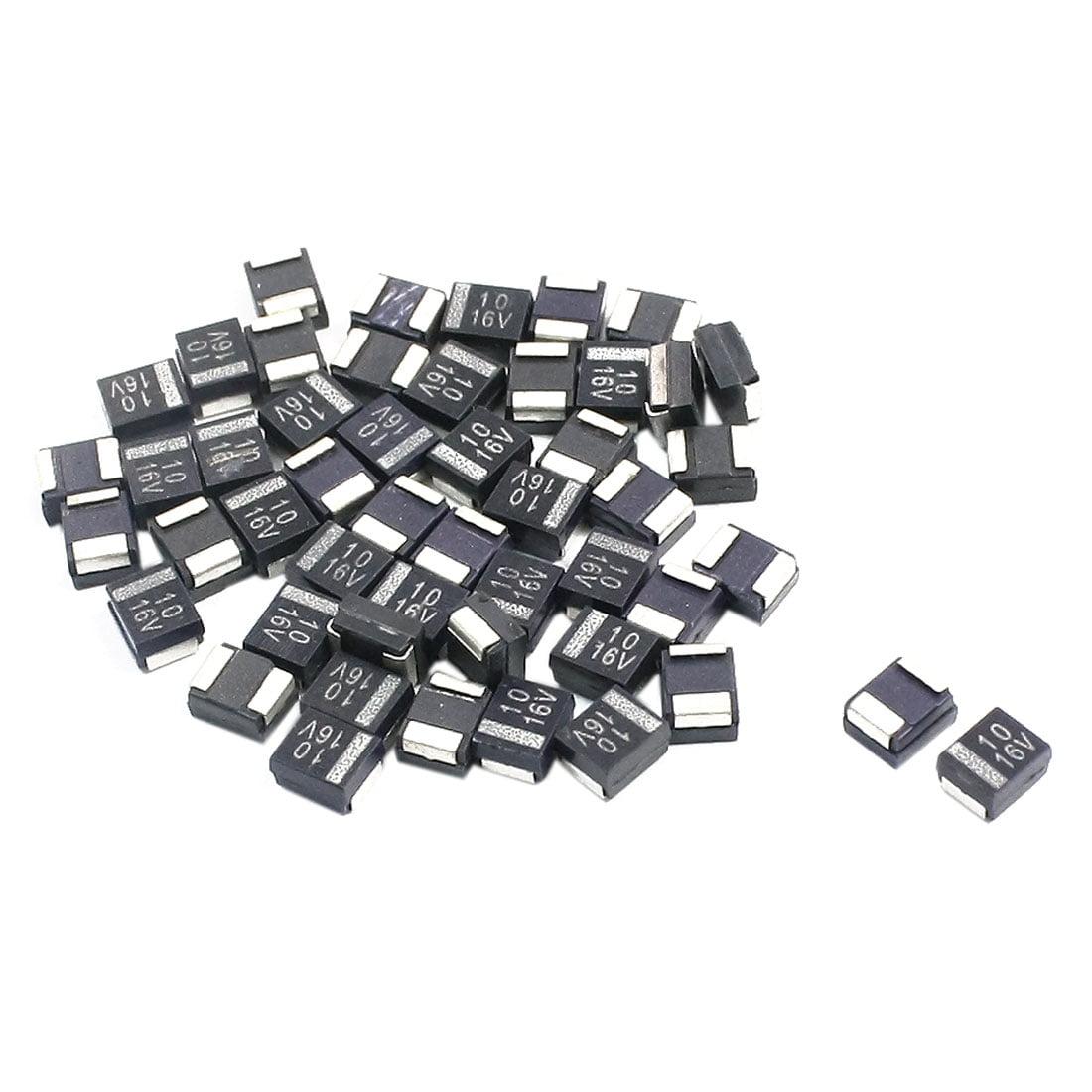 50PCS B Type 10uF 16V 4x3x2mm Black SMD SMT Tantalum Chip Capacitor - image 1 of 1