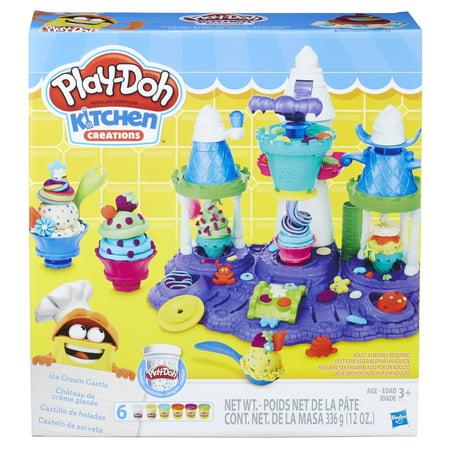 Play-Doh Ice Cream Castle Food Set (Play Doh Perfect Twist Ice Cream Set)