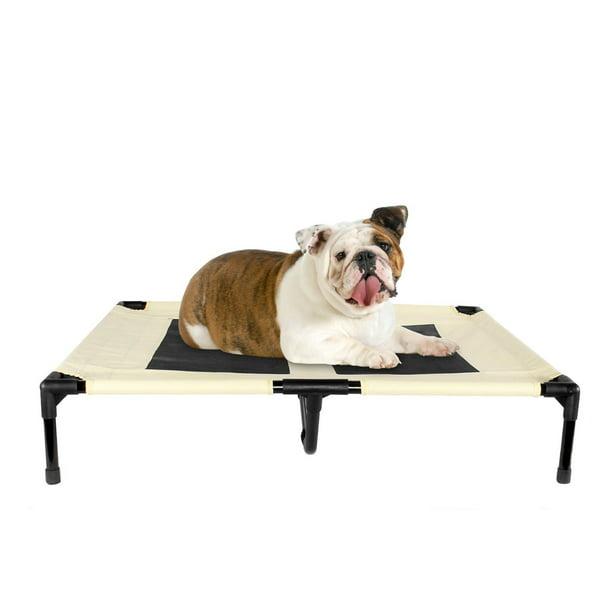 Elevated Dog Bed For Indoor Outdoor Pet Portable Bed Large Beige Walmart Com Walmart Com