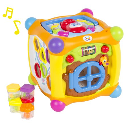 Talking Activity Cube Box Play Center With Lights  Music  Many Functions   Skills   Great Gift