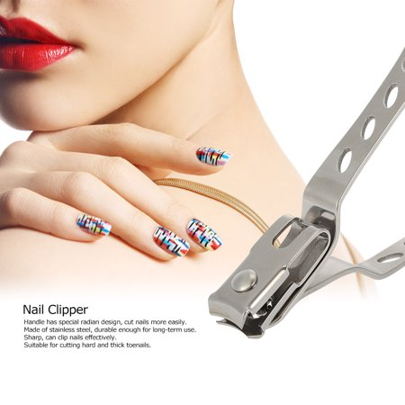 Grand Nail Clipper en acier inoxydable Cutter Nail Nail toilettage outil Finger Toe Nail Trimming manucure Clipper Nail Art Outil - image 2 de 7