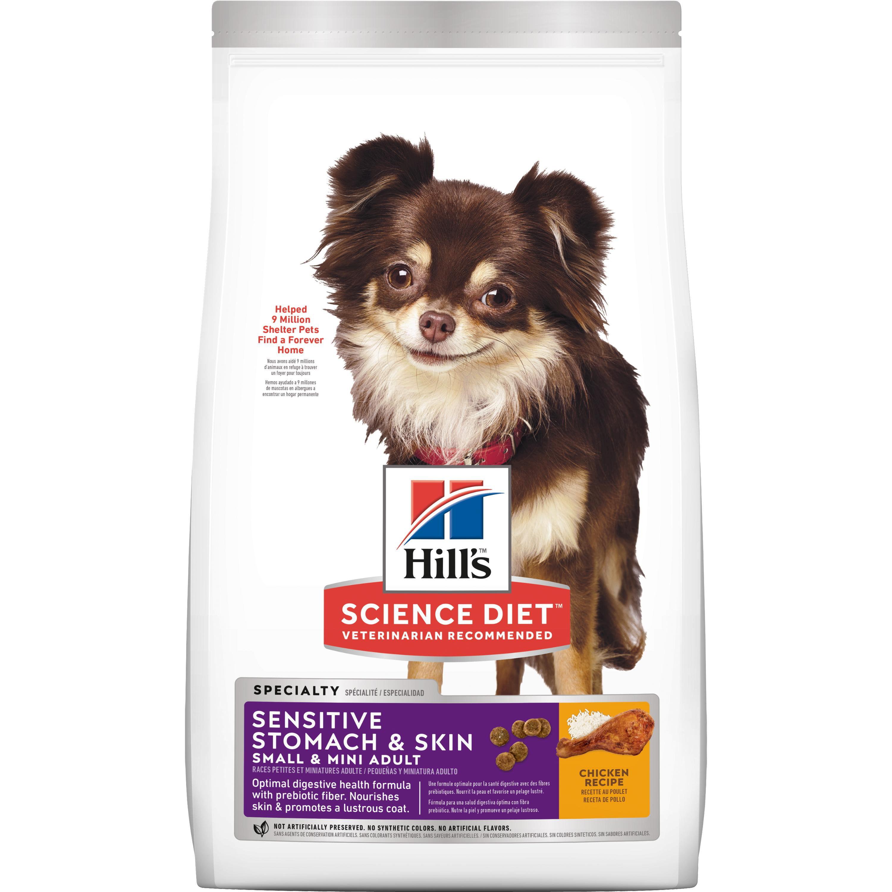 Hill's Science Diet (Spend $20,Get $5) Adult Sensitive Stomach & Skin Small & Mini Chicken Recipe Dry Dog Food
