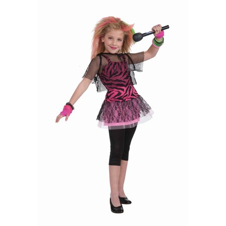 80s Rock Star Girl's Costume - 80s Movie Costumes