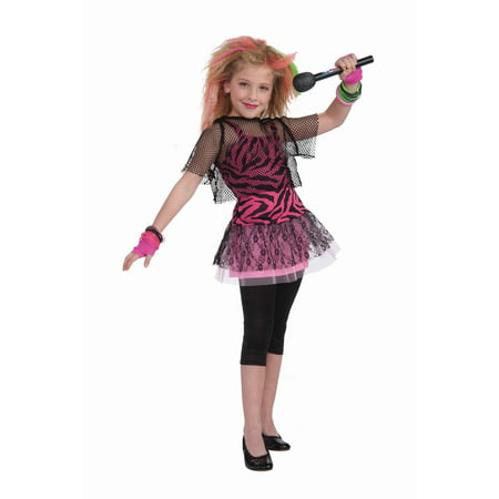 80s Rock Star Girl's Costume (50's To 80's Costumes)