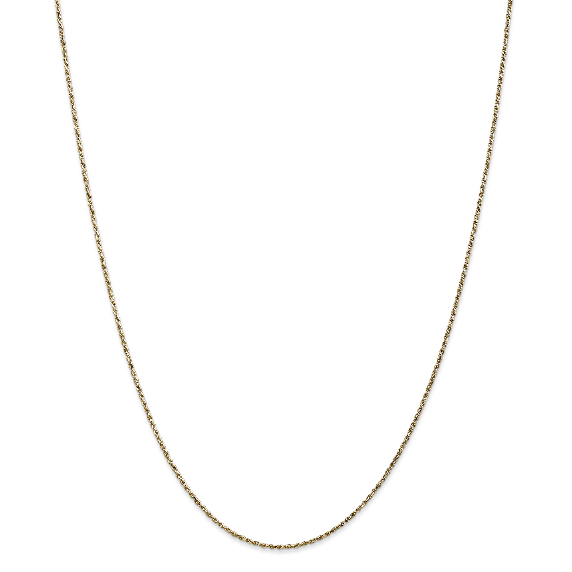 14 kt Yellow Gold 14k 1.15mm Machine-made Rope Chain Anklet 10 in Length
