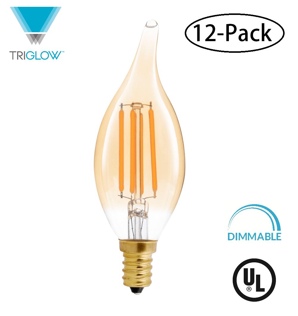E12 Led Walmart: TriGlow (12-Pack) LED 4.5 Watt (40W Equivalent), Flame Tip