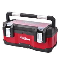 Deals on HYPER TOUGH 23-Inch Portable Tool Box With Metal Latches