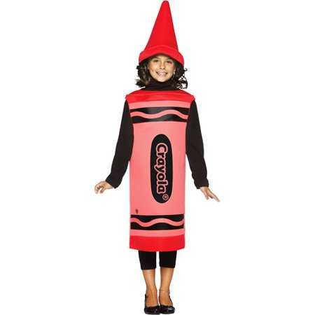 Crayola Red Child Halloween Costume, Size: Girls' - One Size - Glowing Red Eyes Halloween Costume