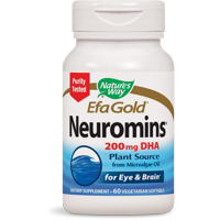 Natures Way EfaGold Neuromins 200mg DHA Plant Source 60 Ct