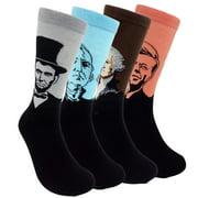 Mens Fun Patterned Dress Socks - Funny Novelty Crazy Design Cotton Socks