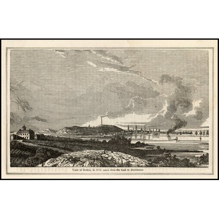 LAMINATED POSTER View of Boston in 1776, taken from the road to Dorchester POSTER PRINT 24 x
