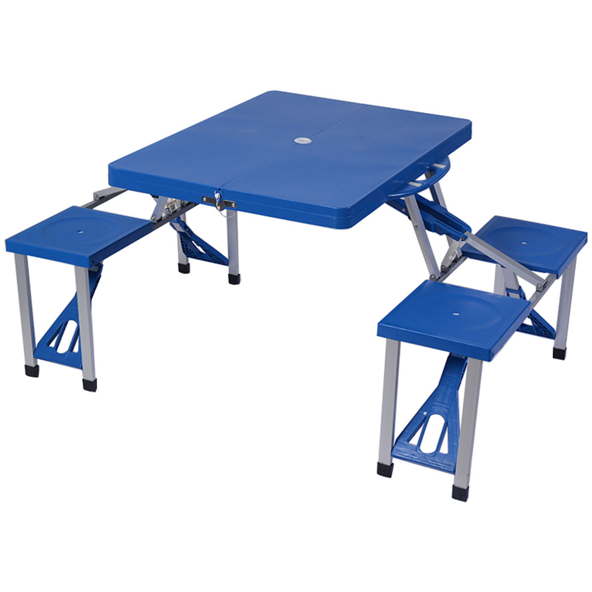 Gymax Outdoor Camping Foldable Picnic Table w  Bench 4 Seat by Gymax