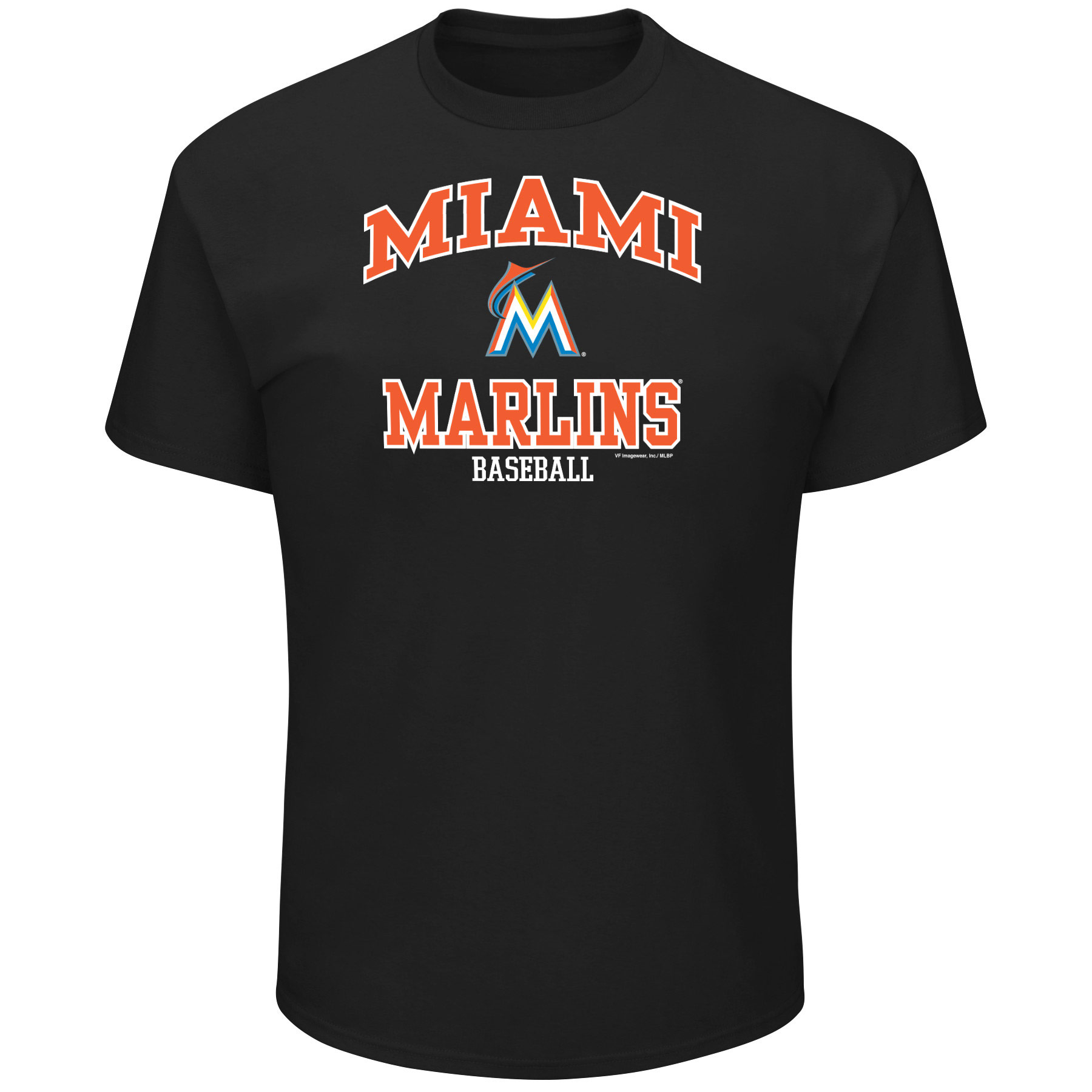 Men's Majestic Black Miami Marlins High Praise Team T-Shirt