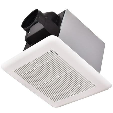 Gymax bathroom exhaust fan ceiling wall mounted air - Wall mounted exhaust fan for bathroom ...