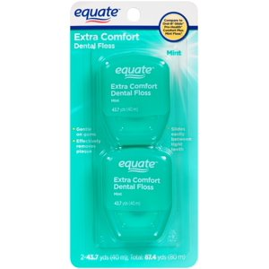 Equate Extra Comfort Mint Dental Floss, 2 Pk