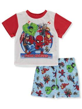 Marvel Super Hero Boys' Team Heroes 2-Piece Pajamas (Toddler)