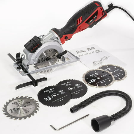 XtremepowerUS Electric Laser Guide Circular Saw with 6 Saw Blade (4-1/2