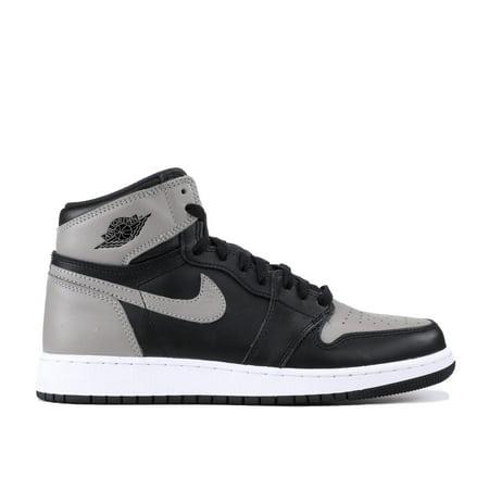 f0d0c84ff85d ... Kids Air Jordan 1 Retro High OG GS Shadow Black Medium Grey White 5754  super cute ...