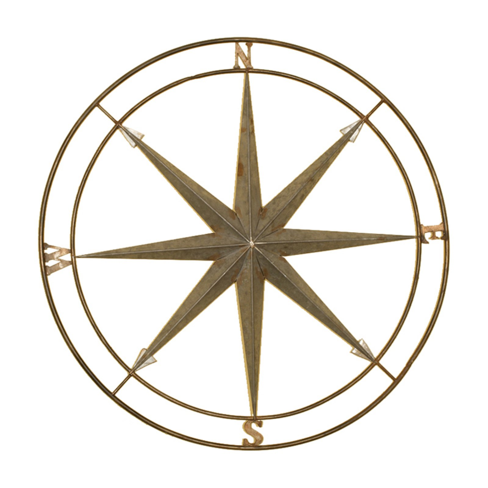 Passport Compass Metal Wall Decor - 27 diam. in.