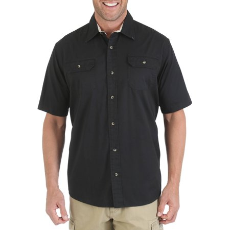 wrangler big and tall men 39 s short sleeve woven shirt