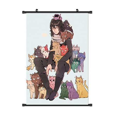 Fancyleo Wall Scroll Poster Fabric Painting For Anime My Hero Academia Key Roles