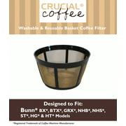 1 Pack of Think Crucial Replacement Coffee Filter - Compatible with Bunn Coffee Makers (18 Ounces) Part # C60666 Permanent Coffee Filters – Fits Most Bunn BX, BTX, GRX, NHB, NHS, ST, HG & H Models