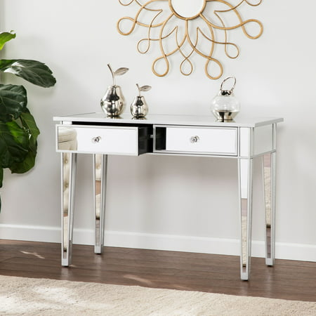 Deck Console - Southern Enterprises Illusions Collection Mirrored Console Table/Desk