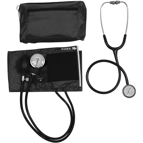 Mabis MatchMates Combination Kit with a 3M Littmann Classic II S. E.  Stethoscope- Black