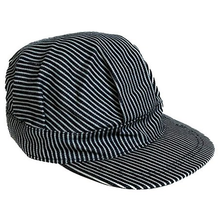 5b08d22e27d Rubie s Costume Co. Navy Blue Pinstripe Engineer Train Conductor Hat Cap -  Walmart.com