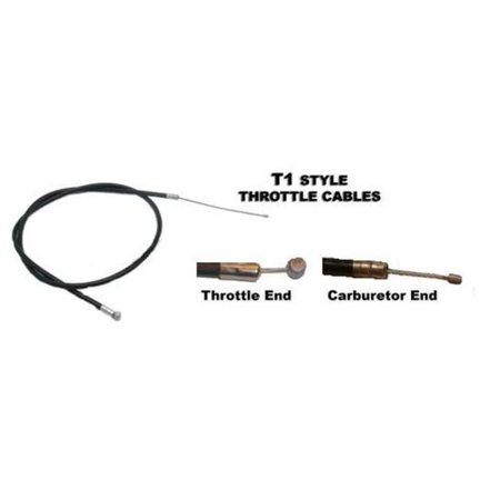 Outside Distributing T1-235 T1 Style Throttle Cable