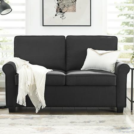 Swell Mainstays Traditional Loveseat Sleeper With Memory Foam Creativecarmelina Interior Chair Design Creativecarmelinacom