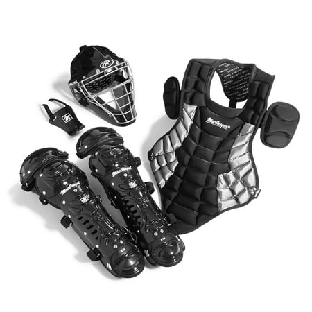 Junior Catcher's Gear Pack in Black/Silver (Ages