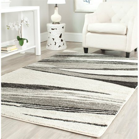 Safavieh Retro 6' Round Power Loomed Rug in Light Gray and Ivory - image 5 of 7
