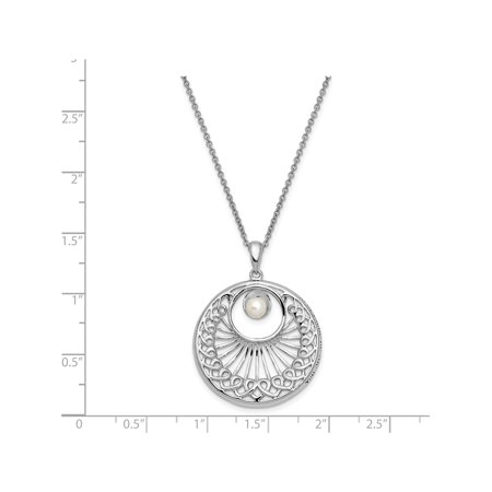 Sterling Silver Antiqued FW Cultured Pearl You Are An Angel To Me 18in Neck - image 5 de 6