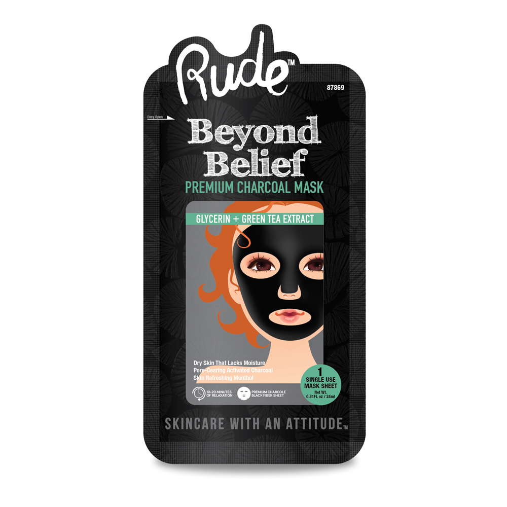 RUDE Beyond Belief Purifying Charcoal Face Mask