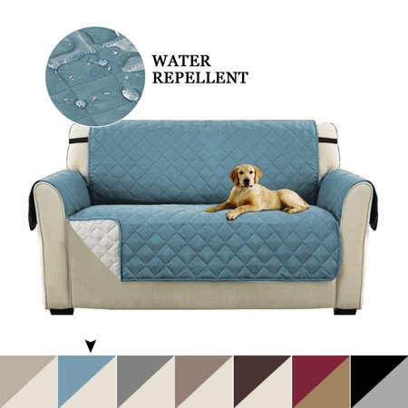 Turquoize Reversible Stay-in-Place Plush Furniture Oversize Loveseat Protector for Dogs/Cats with Straps, Multiple Colors and Sizes ()