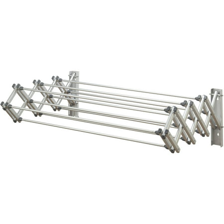 Woolite Accordion Wall Drying Rack Collapsible, Aluminum