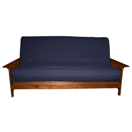 Ultimate Better Fit Machine Washable Grade Futon Cover , Full 6-Inch, Twill Navy Blue